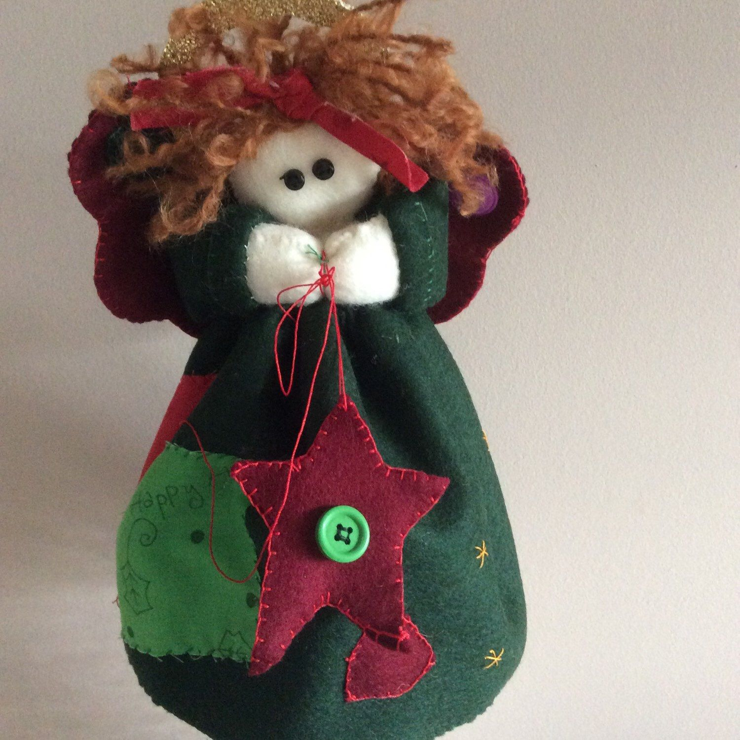 Angel tree topper, Christmas Angel, Rustic Country