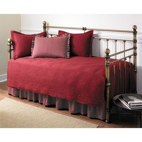 Trellis Scarlet 5 Piece Day Bed Set