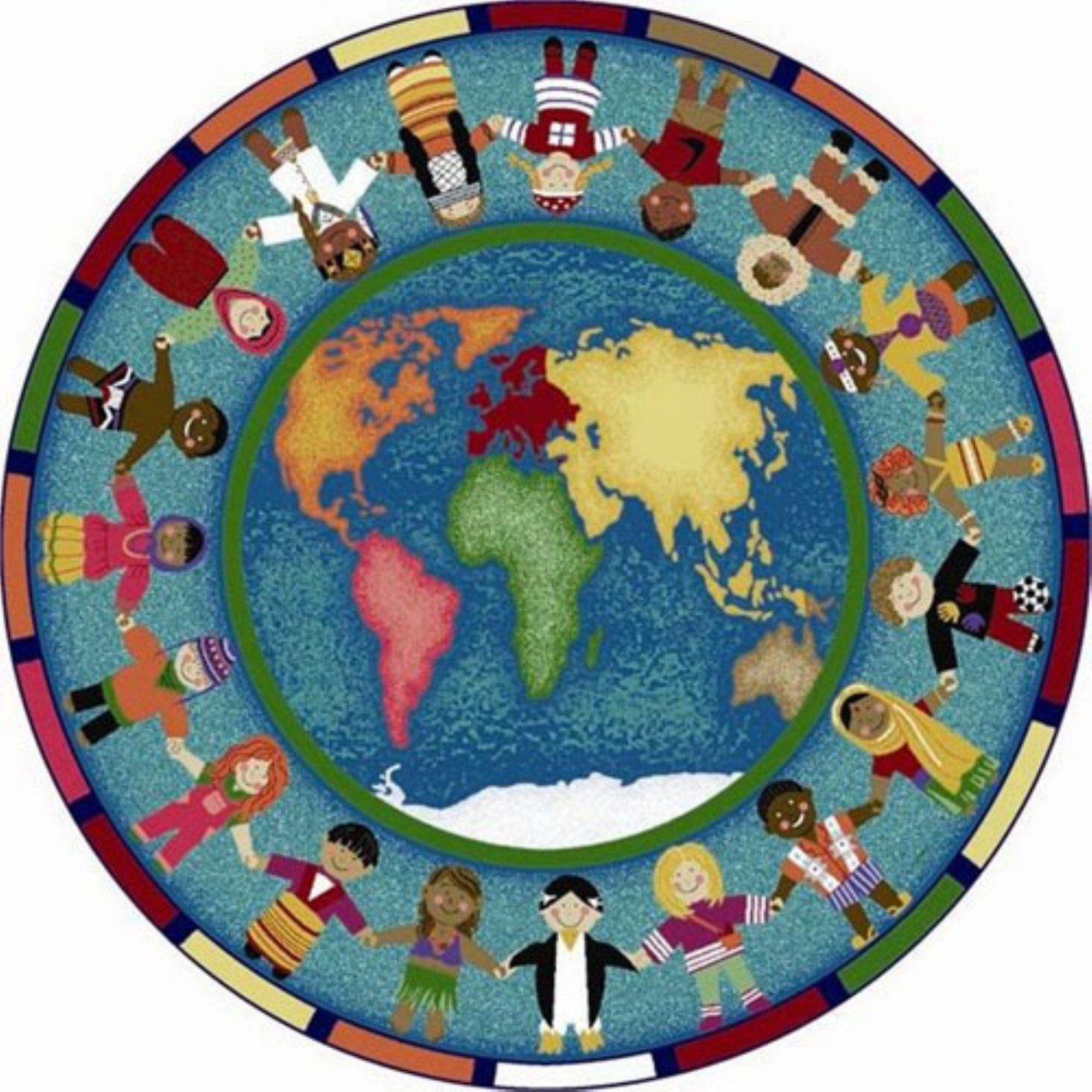 Joy Carpets Hands Around The World Kids Area Rug Kids Area Rugs