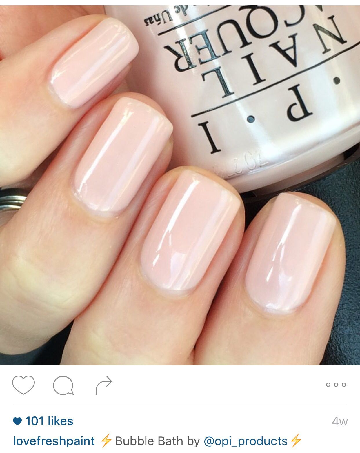 it s polish hand g a handswatch girl itsagirl light pink nail swatch opi products lacquer its
