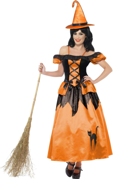 Black & Orange Storybook Witch Costume in 2020 Halloween