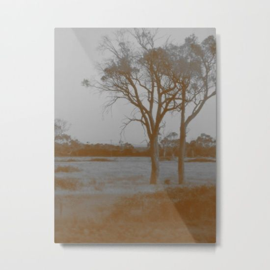 Countryside - Sepia Metal Print by Moonshine Paradise #countryside #sepia #nature #photography #metalprint