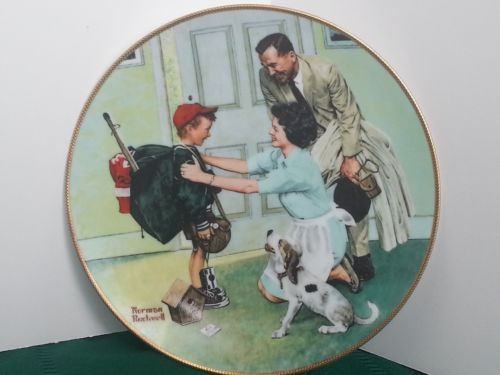 Knowles Bradford Exchnge Home From Camp Coming Of Age Series Norman Rockwell Coa Norman Rockwell Norman Rockwell Plates Rockwell