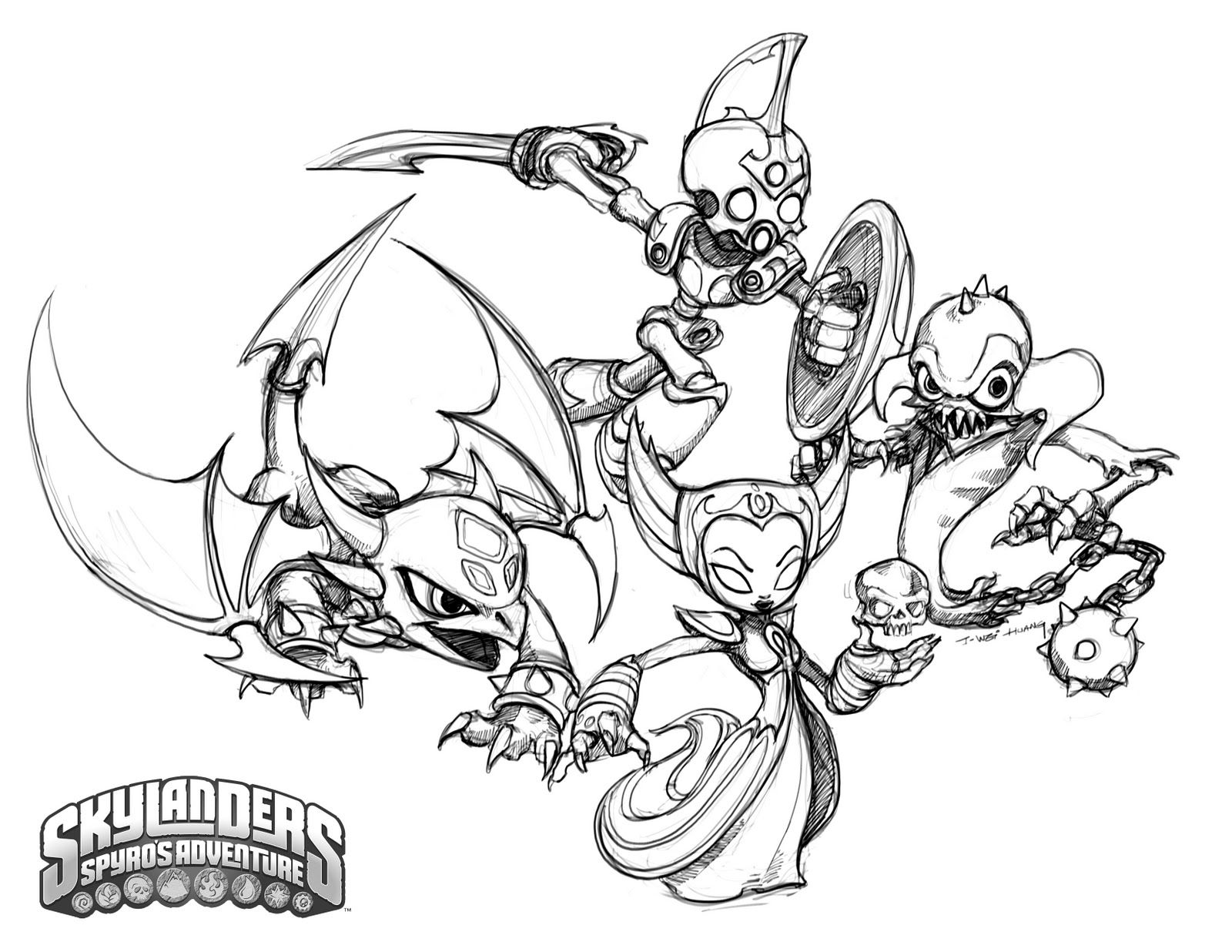 crabfucom blog Skylanders Speed Coloring Pages Skylanders