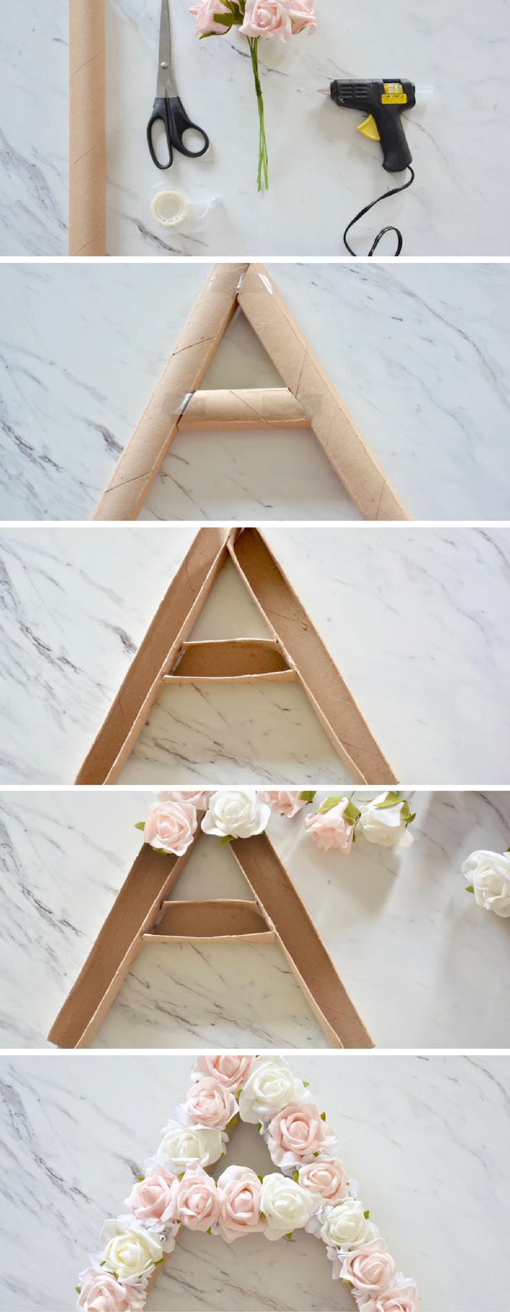 Ideas : DIY Flower Monogram - make this fun and easy summer decor! #DIYHomeDecorSummer