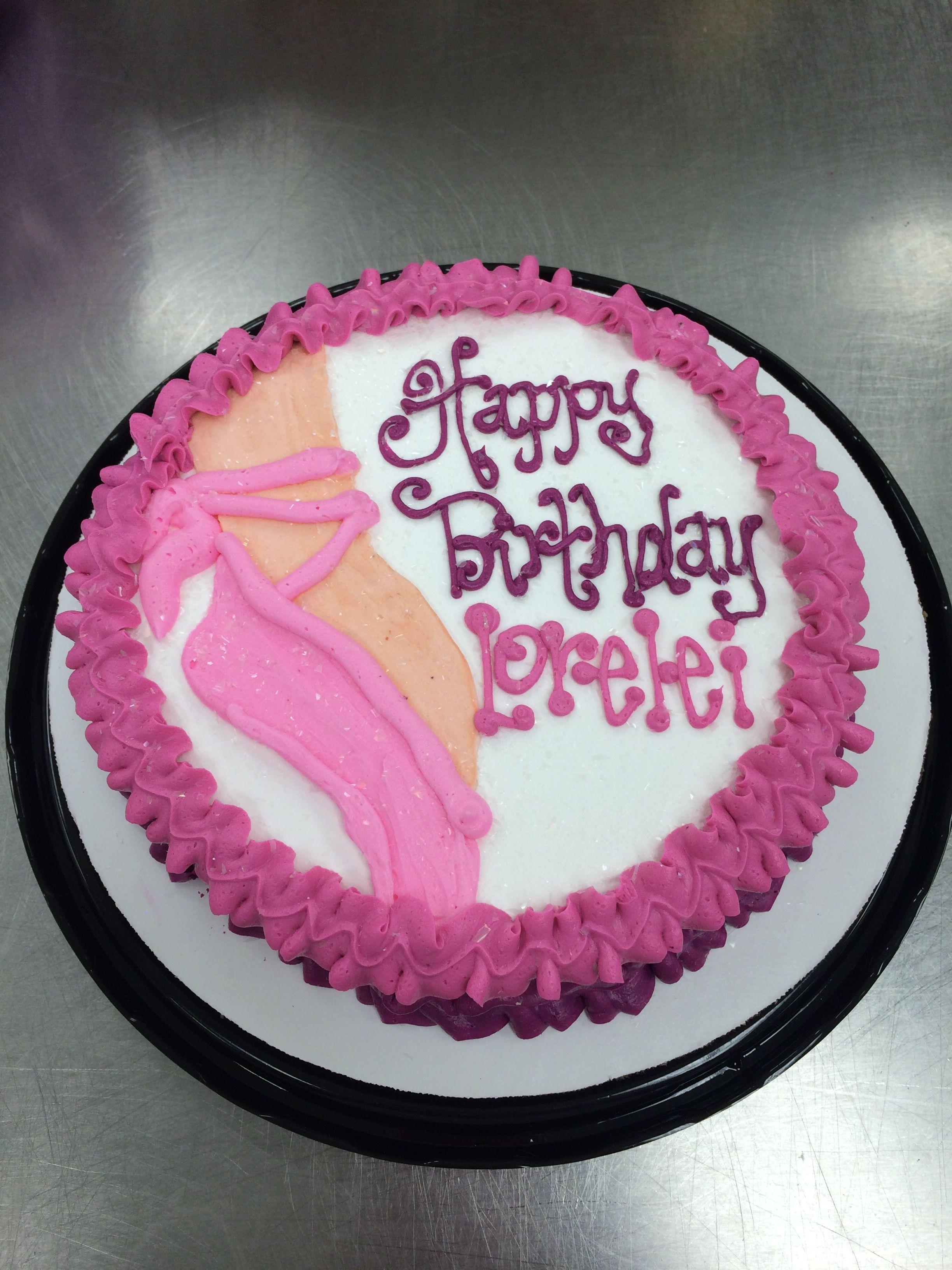 Ballet Slipper Birthday Cake By Stephanie Dillon Ls1 Hy Vee