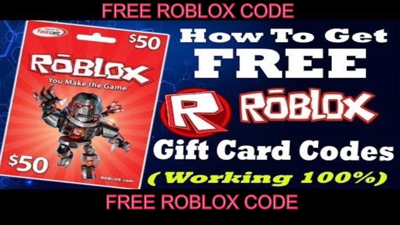 Free roblox gift card codes generator _ roblox code 2018