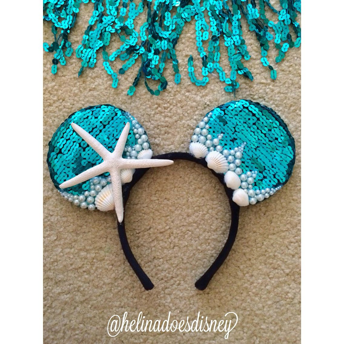 Mermaid Custom Minnie Mouse Ears