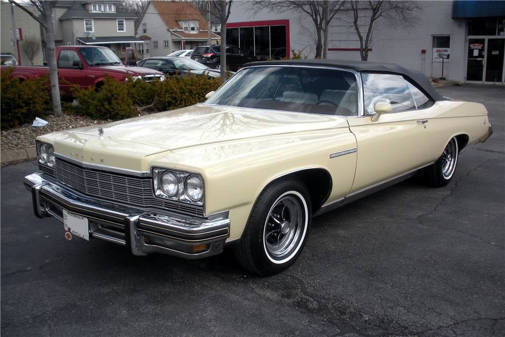 lesabre 1975 buick convertible in canary yellow retro. Black Bedroom Furniture Sets. Home Design Ideas