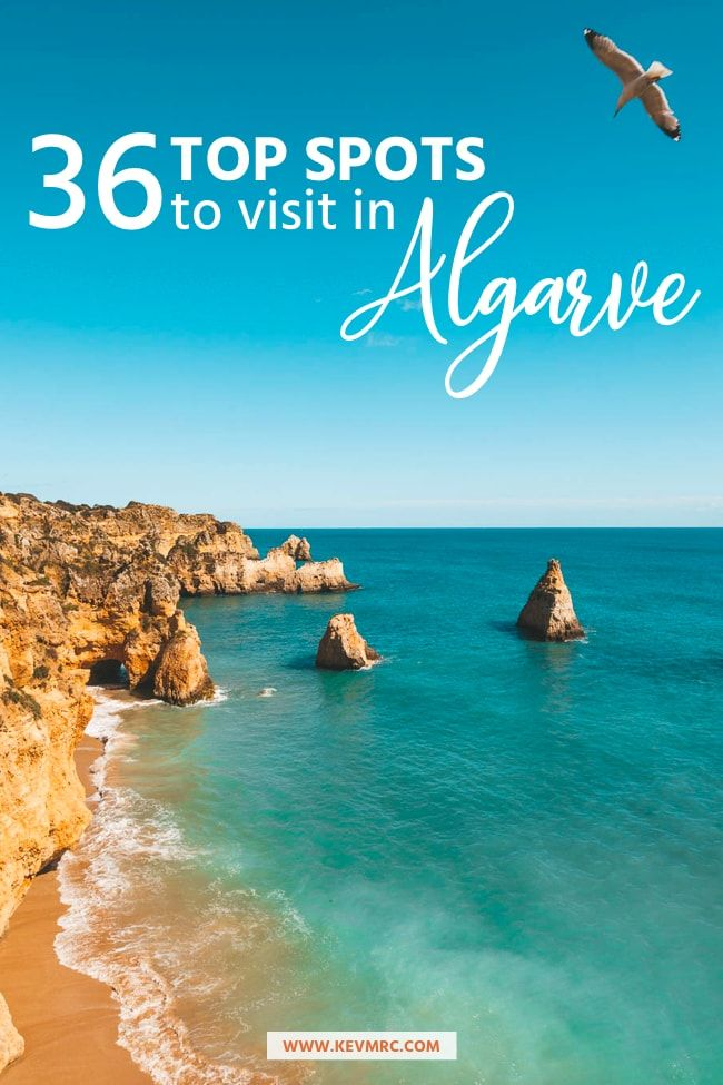 36 BEST places to Visit in Algarve Portugal + free map included! #traveltoportugal