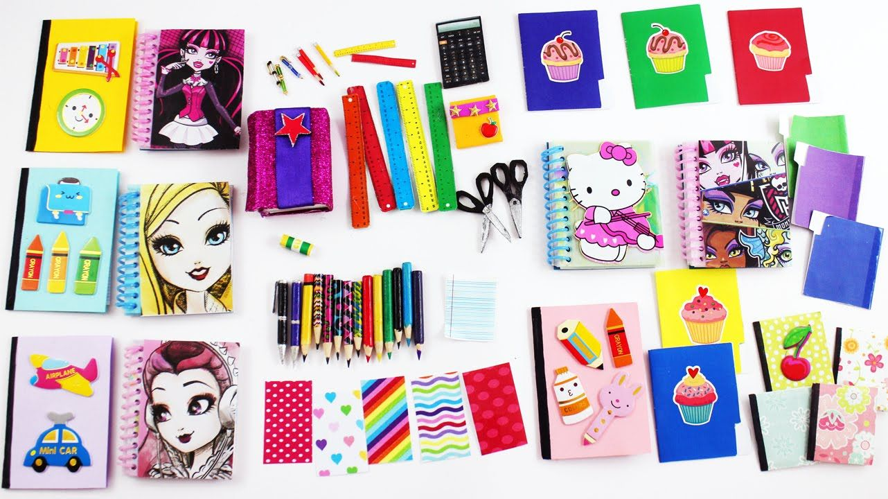 How To Make American Girl And Barbie Doll School Supplies