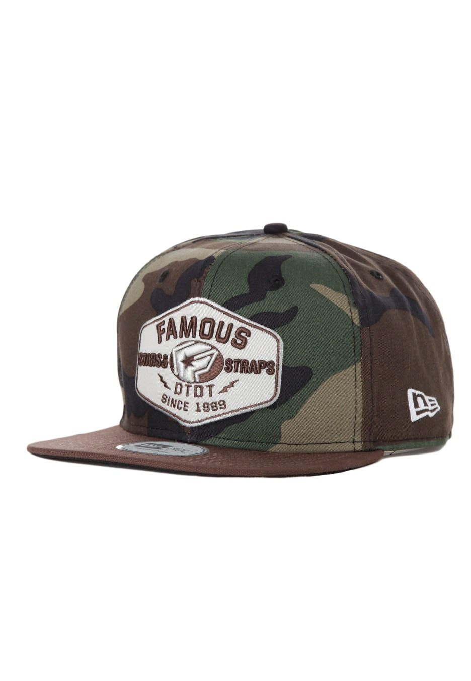 Famous Stars and Straps - Strike New Era Woodland Camo Brown Tan Snapback -  Cap d7da31b4570