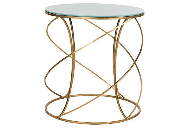 Carney Accent Table- Sweeping curves wrap around this elegant accent