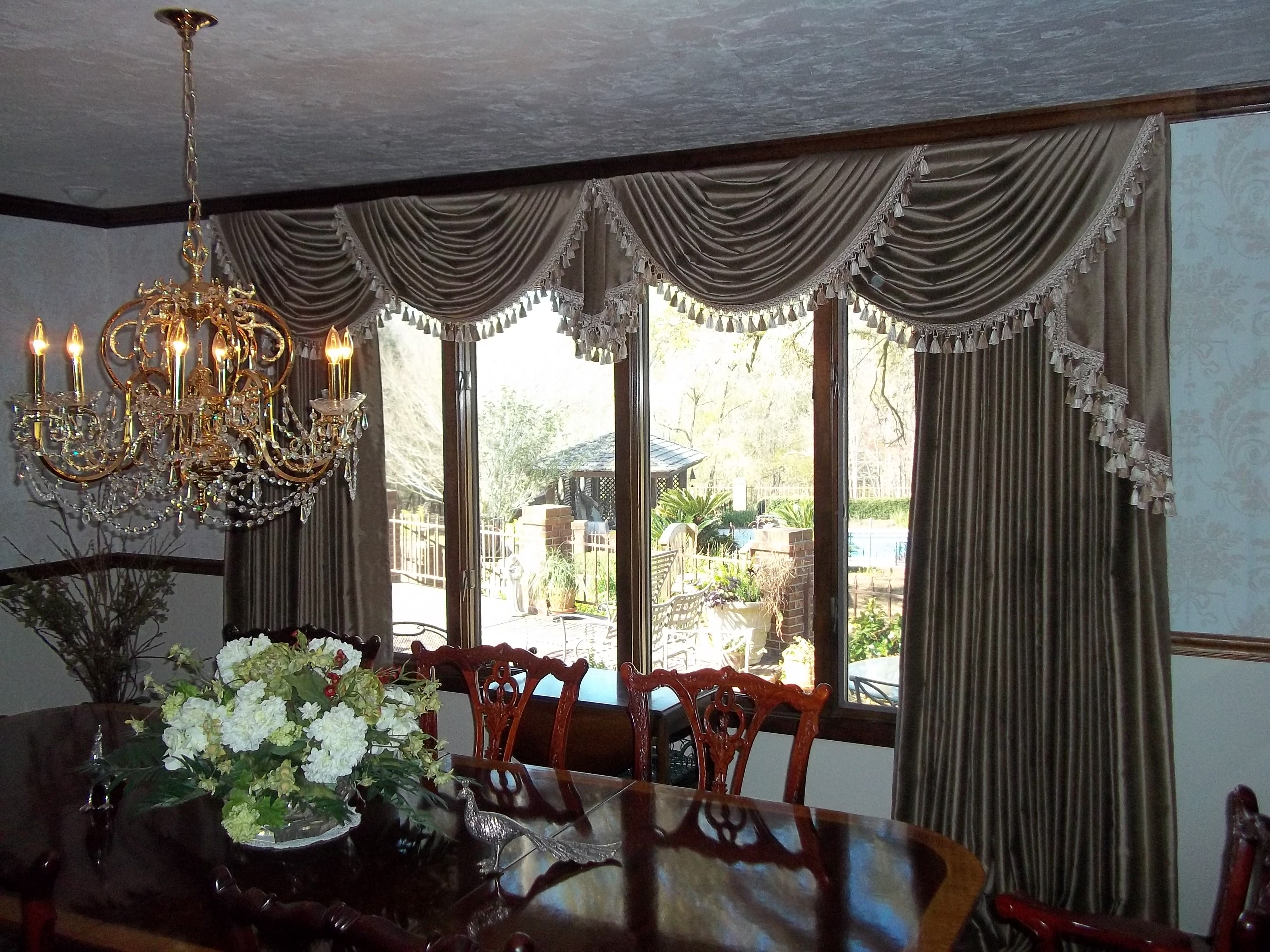 Window treatment ideas for arched windows  pretty window treatment  upholstery  pinterest  window bed crown