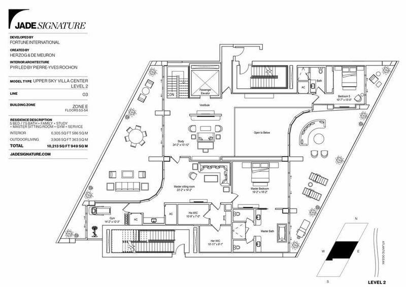 Jade Signature Launches 13m Double Decker Sky Villas Floor Plans Villa Sky