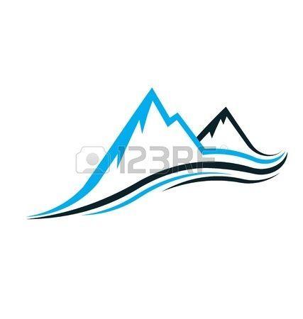 Mountain swoosh Stock Vector - 18840545