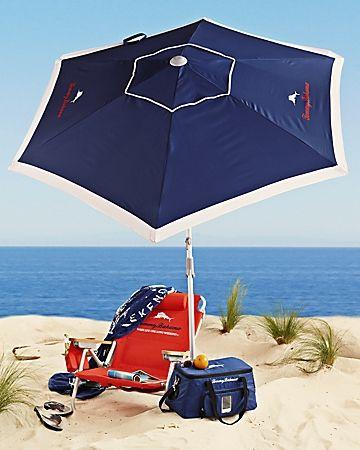Navy Deluxe 7\u0027 Beach Umbrella Sillas de playa Pinterest Sillas - sillas de playa