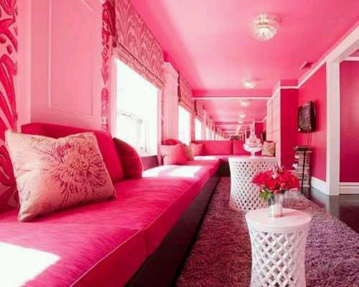 Pink & white room! 2 cute! | Kool\' Home Decorating & Styles ...