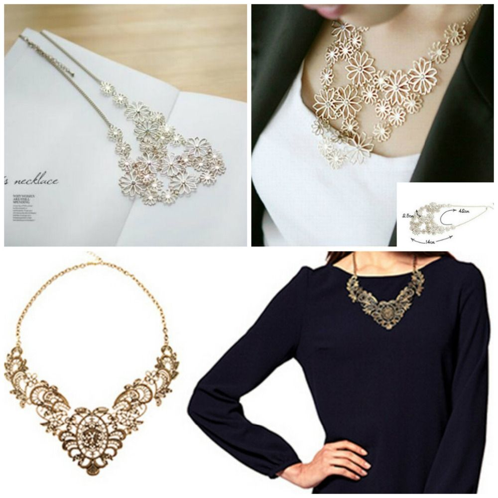Hot sale vintage western style bronze multilayer pendants rhinestone hot sale vintage western style bronze multilayer pendants rhinestone gold color hollow flowers necklace jewelry statement aloadofball Image collections