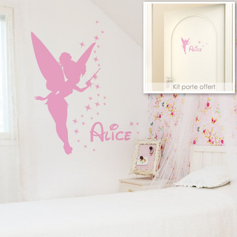 sticker fee clochette personnalise avec pr nom gali art. Black Bedroom Furniture Sets. Home Design Ideas