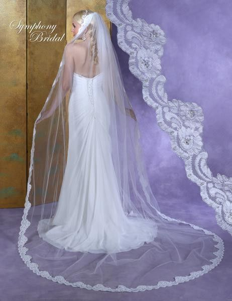 Bella Mera Bridal Boutique -  Symphony Bridal Veil - Style 6147VL -Cathedral Lace Embroidered Edge Veil,  (http://www.bellamerabridal.com/symphony-bridal-veil-style-6147vl-cathedral-lace-embroidered-edge-veil/)
