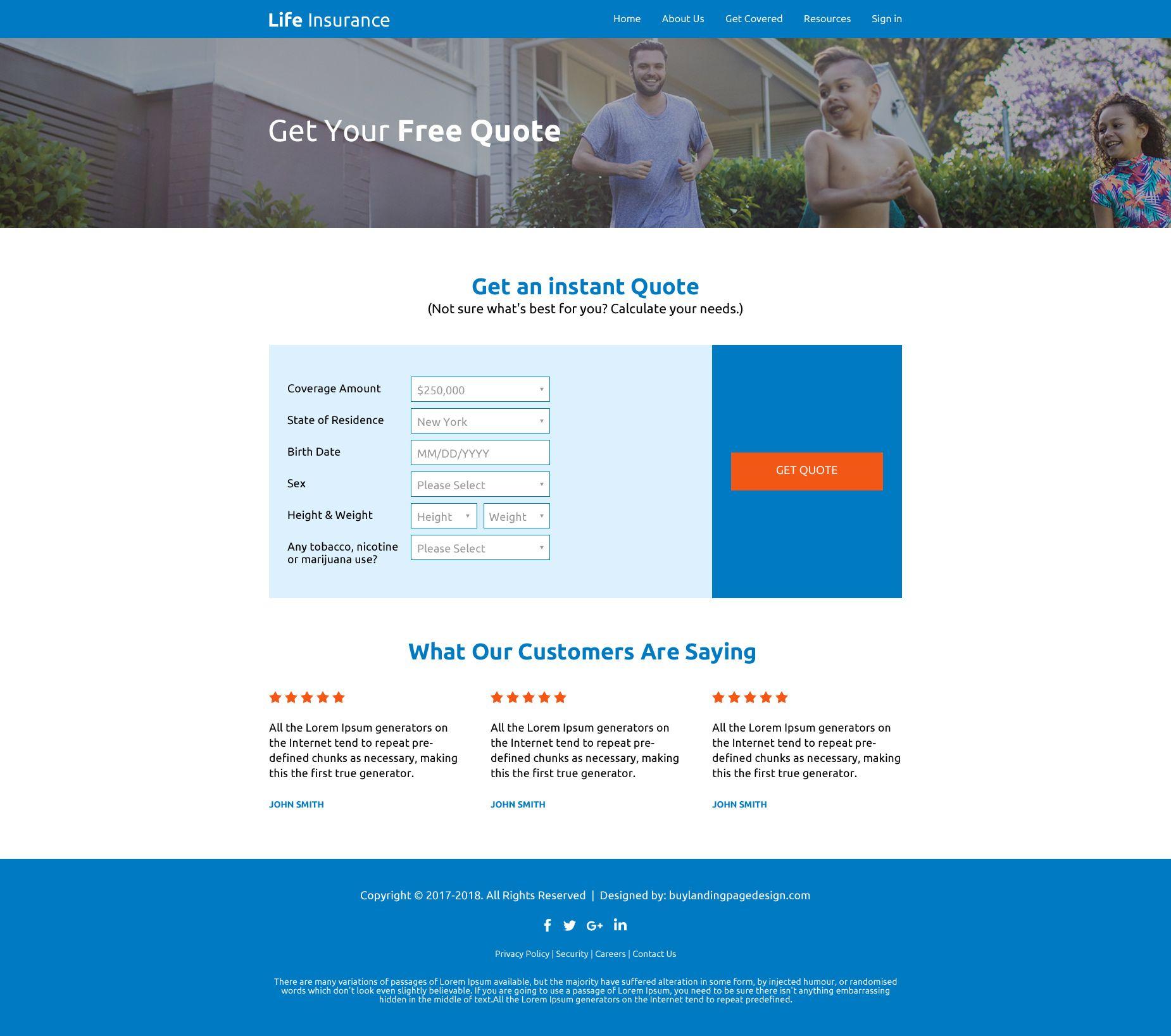 Affordable Life Insurance Website Design Template Affordable
