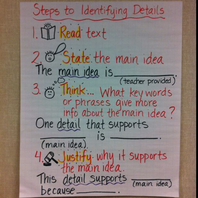 26 Main Idea Main Idea Reading Main Idea Teaching Reading