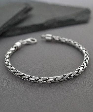 da7499f5c8d4c Another great find on  zulily! Sterling Silver Rope Chain Bracelet - Men   zulilyfinds