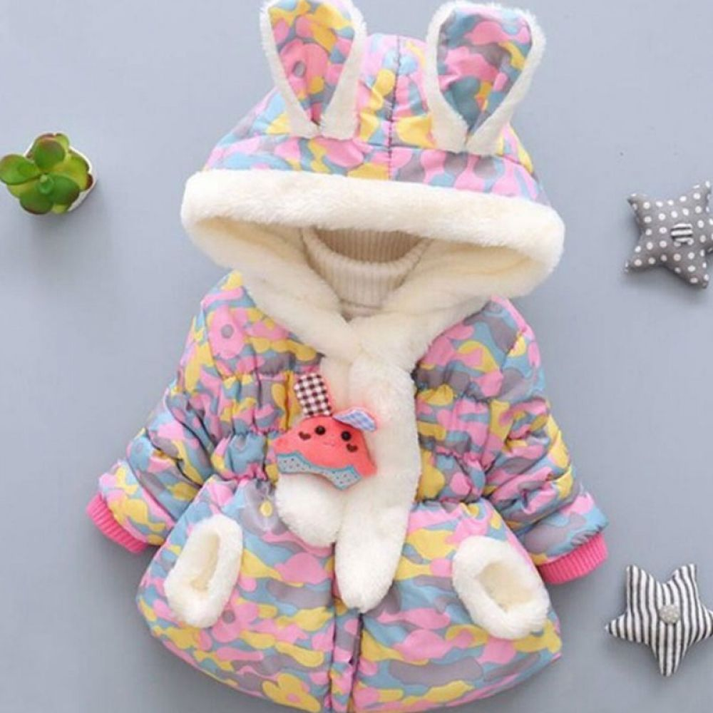 Sasairy Toddler Baby Hooded Jackets Kids Rabbit Ears Long Sleeve Outfits Coats