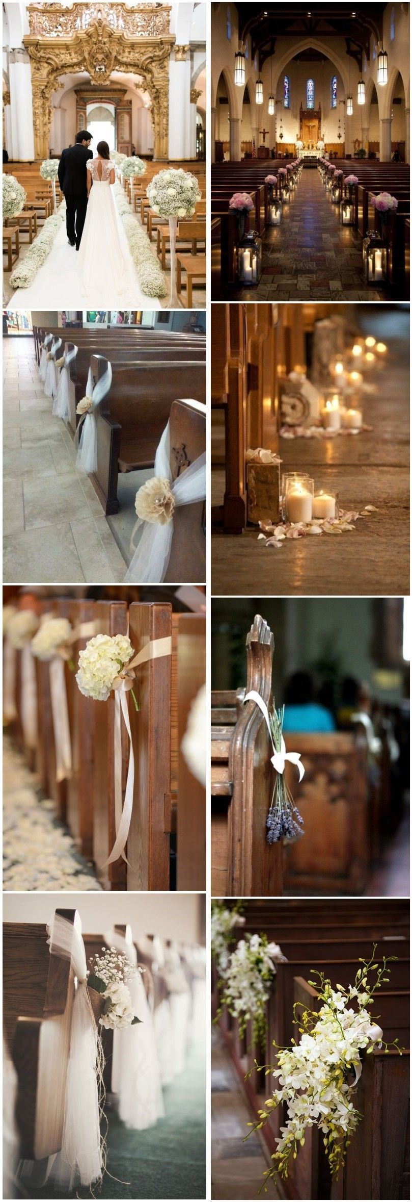 Unique church wedding decoration ideas  Wedding Decorations   Stunning Church Wedding Aisle Decoration