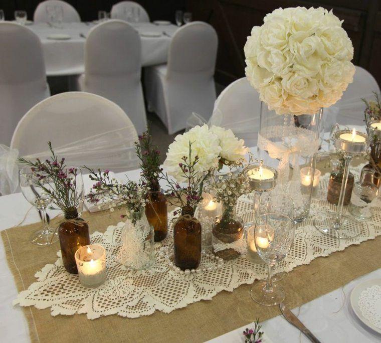 D coration mariage champ tre plus de 50 id es originales - Idee centre de table mariage ...