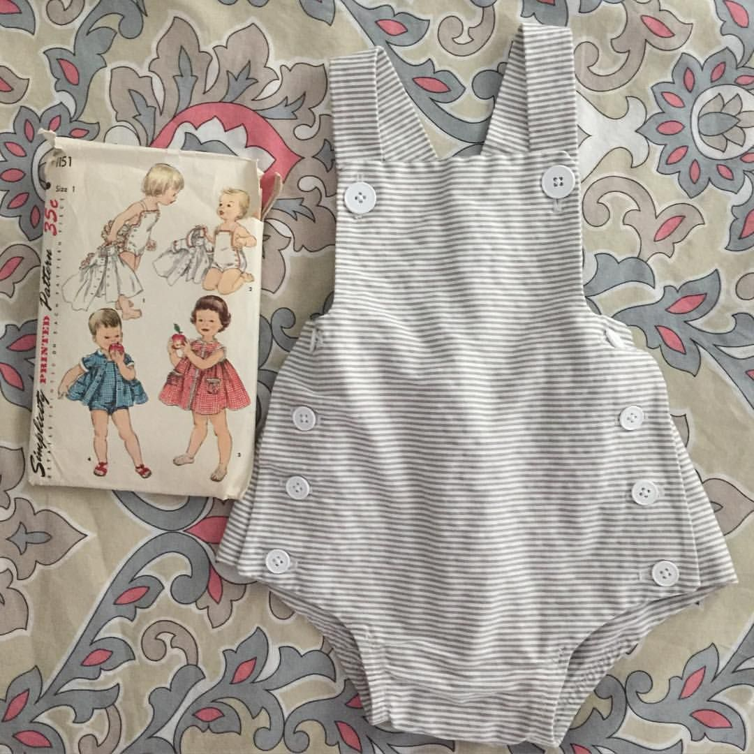 5839c82cee2e Vintage baby romper from Simplicity (pattern 1151