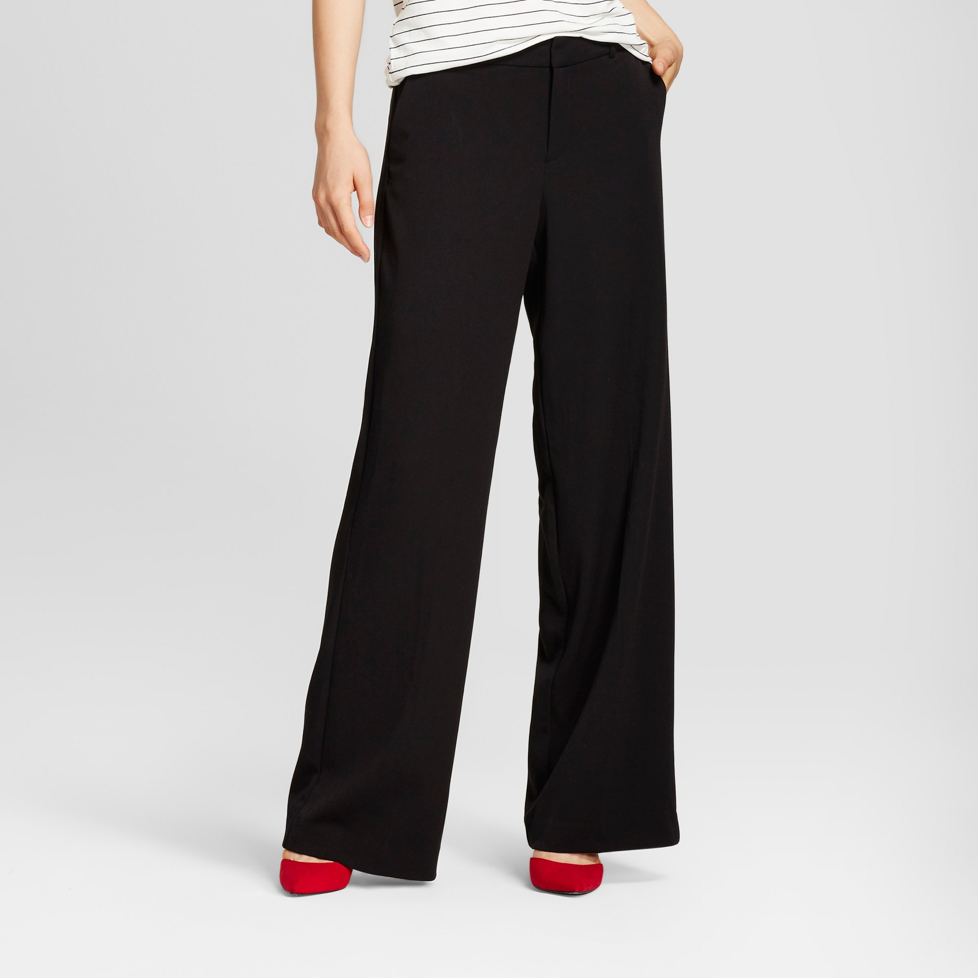 Women's Black Twill Pants