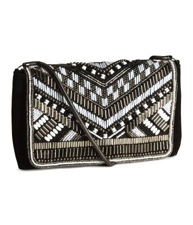 H M Beaded Clutch Bag 34 95 Description Backpack In Pile Fabric With Imitation Leather Details Handle And Drawstring At Top Adjule Shoulder Straps