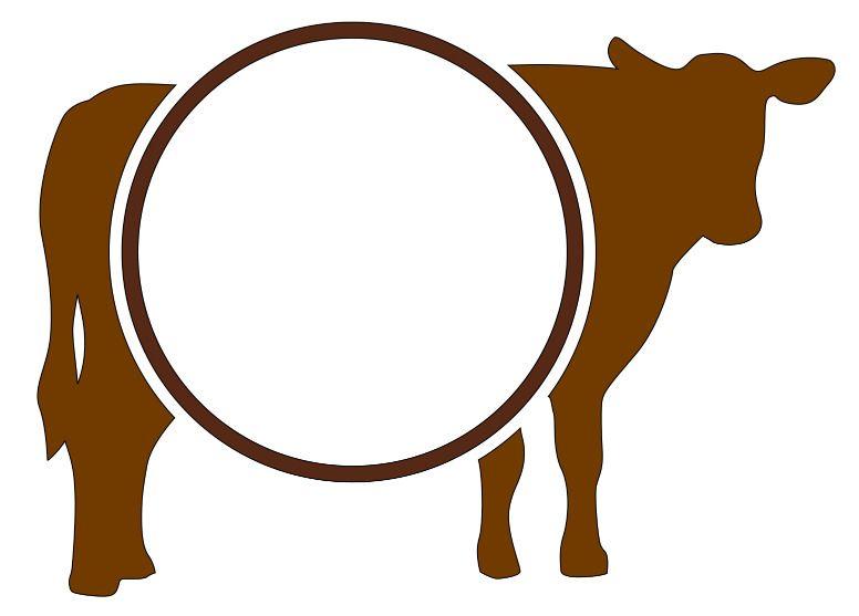 farm animals monogram 3 letters decal cow pig chicken rabbit + high