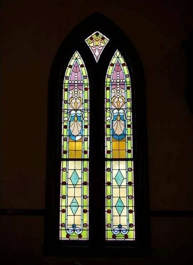 Historic Wedding Chapel Original Stained Gl Window Circa 1868 The Olde North Www