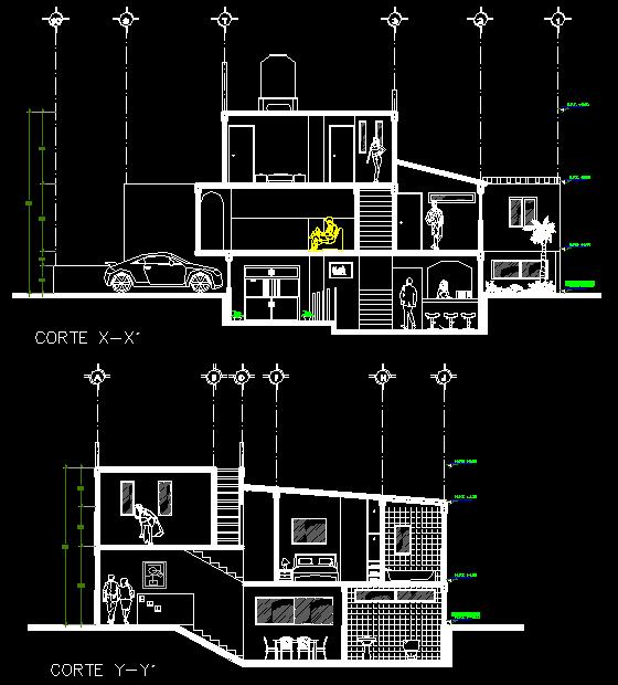 2 Story Split Level House Section Detail Split Level House Square House Plans Classic House Design