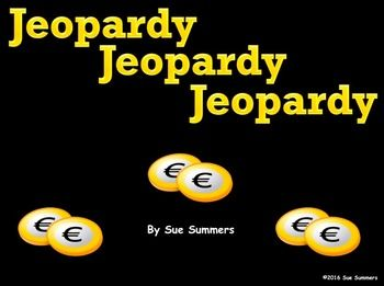 spanish verbs jeopardy gamesue summers - great spanish game, Powerpoint templates