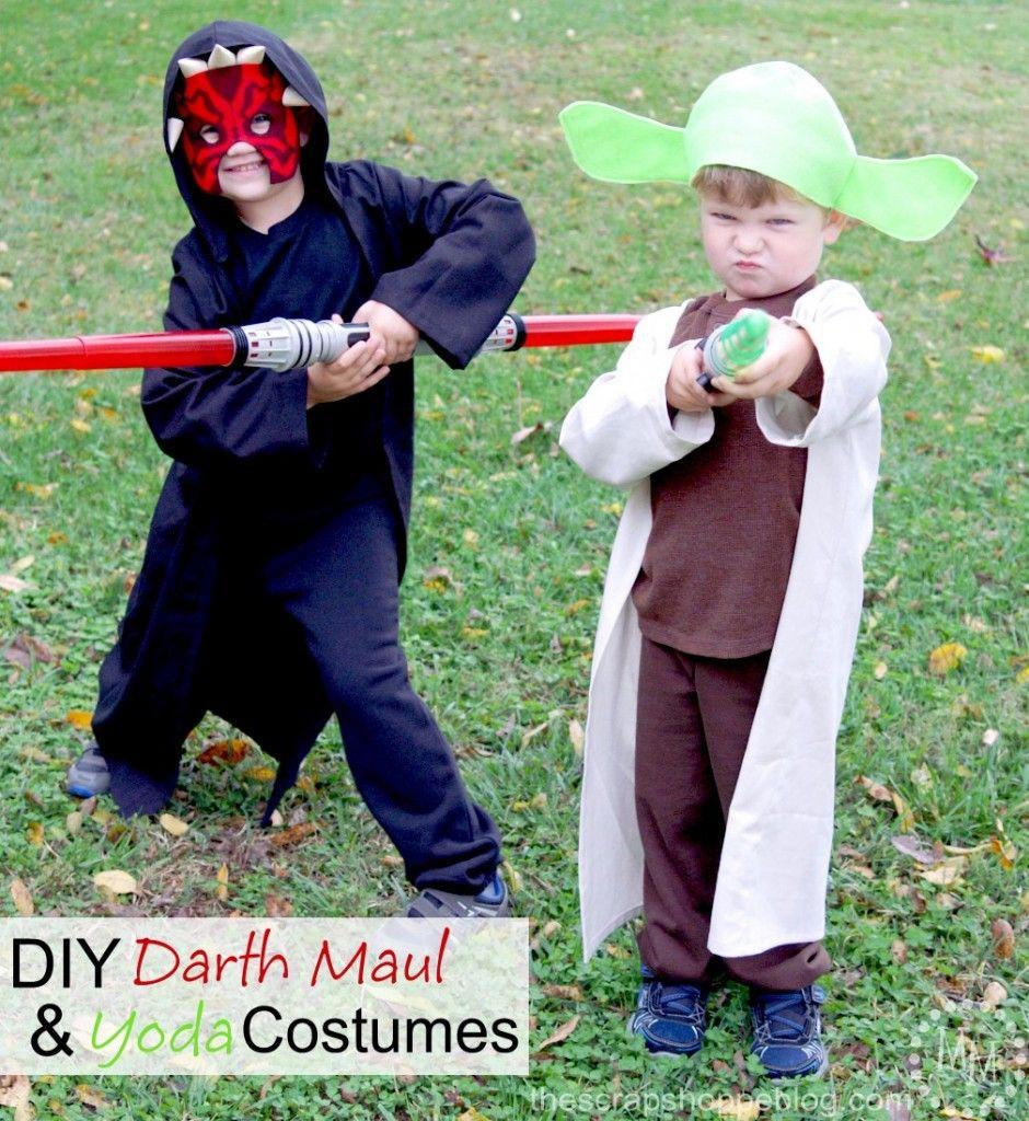 DIY Star Wars Costumes , Easy Darth Maul and Yoda Halloween Costumes