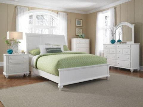 Best Hayden Place King Sleigh Bed Linen White By Broyhill 400 x 300