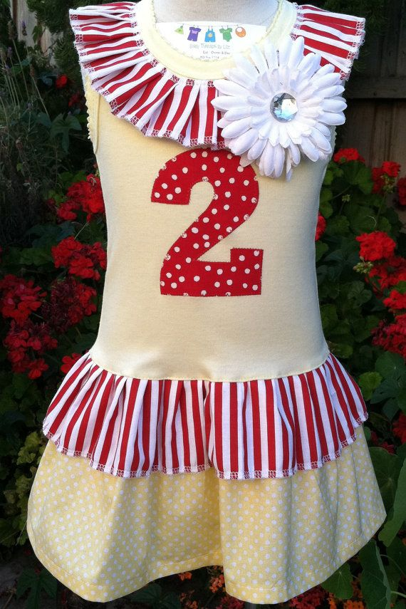 SALE Big Top Circus two Tier  Dress Available 0-3 months through Size 6/8. $25.00, via Etsy.