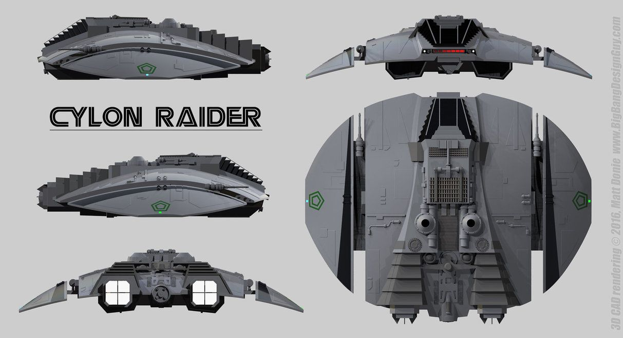 Cylon Raider Schematics By Ravendeviant Deviantart Com On