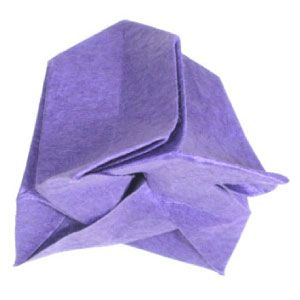 How to make a simple origami bellflower httporigami flower how to make a simple origami bellflower httporigami flower flower origami bellp mightylinksfo