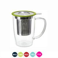 Newleaf Glass Tea Mug With Infuser Lid Tea Mugs Mugs Tea