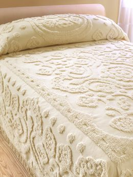 floral chenille bedspread vermont country store - Chenille Bedspreads