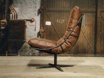 Draaifauteuil Bruin Leer.Industriele Draaifauteuil Bruin Furniture Fauteuil Leer En
