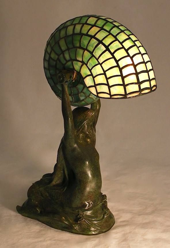 Century Studios Mermaid Nautilus Lamp