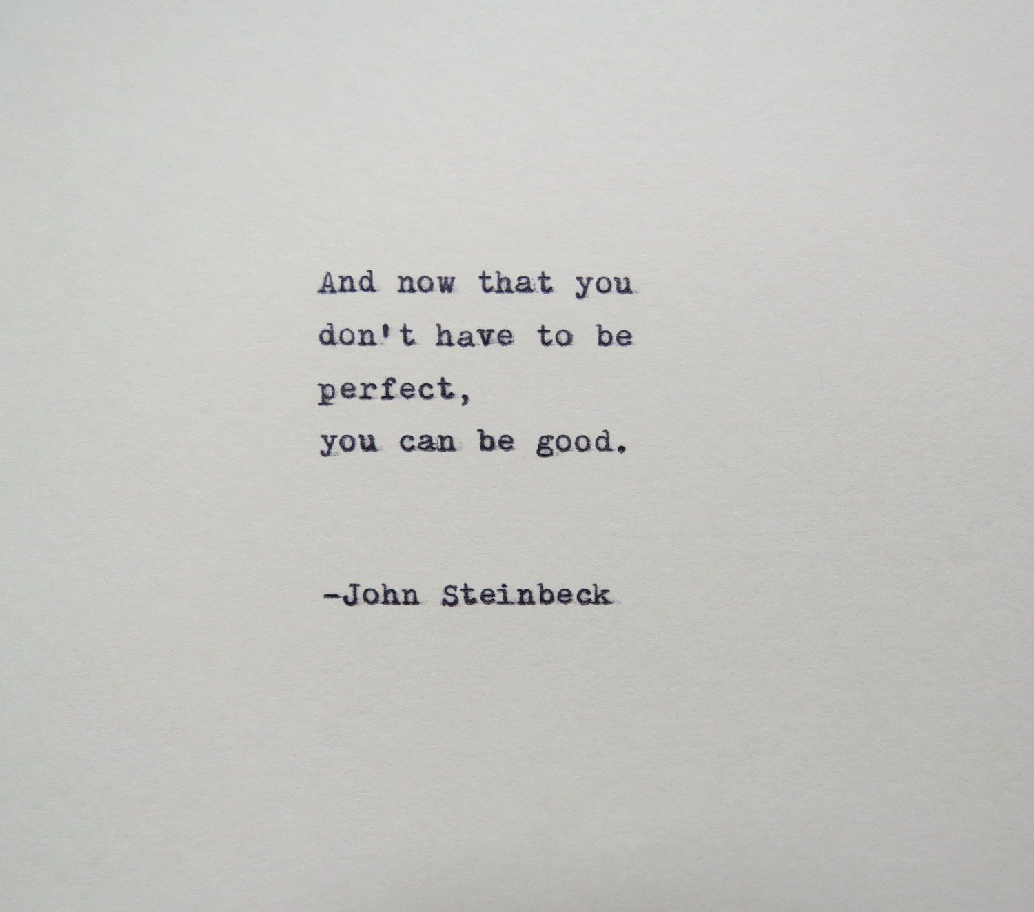 John Steinbeck East of Eden Quote Made on Typewriter | Etsy