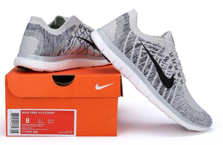 fadfb7594186a Cheap Nike Women Men Shoes - Brand New Nike Free Run Flyknit Grey White  Cheap Sale