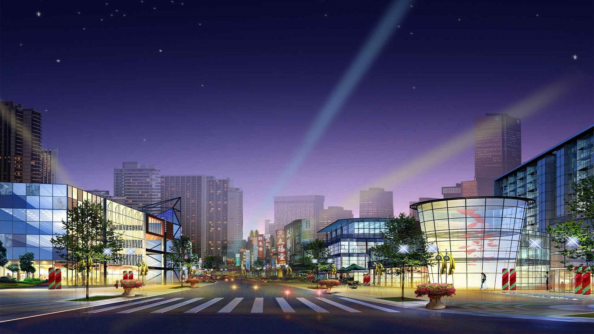 Animated City 1920x1080 Architecture Wallpaper Cityscape Wallpaper City Architecture